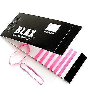 Blax PINK Snag-Free Hair Elastics 4mm, 8 ct Blax Hair Elastics