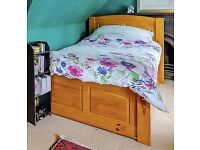 Pine bed with underbed