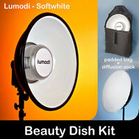 "Lumodi 18"" Beauty Dish with Diffuser and Carry Case"