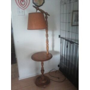 Vintage Wooden Lamp / End Table