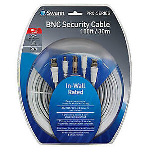 Swann 30m (100 ft.) Fire Rated BNC Cable