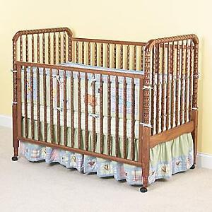 STORKCRAFT JENNY LIND 3 IN 1 CRIB WITH WATERPROOF MATTRESS