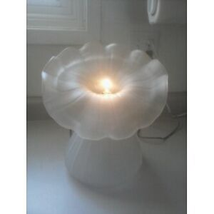 Frosted Glass Floral Table Lamp