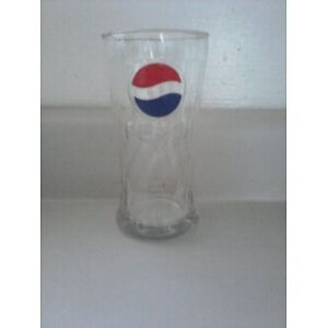 Vintage Pepsi Glass with Raised Logo