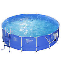 Summer Escapes 14 ft. X 42 in. Metal Frame Round Pool Set