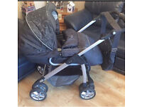Silver cross pram with matching car seat