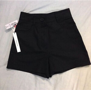 Aritzia High Waisted Black Shorts - New w/ Tags