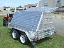 8x5 Tradie trailer 2000kg 4 wheel disc brakes Aluiminum top Malaga Swan Area Preview