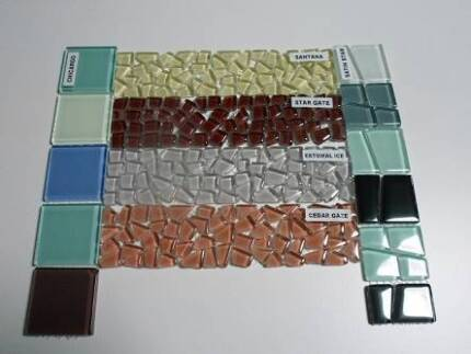 MOSAIC GLASS BORDER TILES 200 X 50 4 NEW ONES TO CHOOSE FROM Gold Coast Region Preview