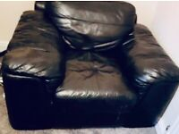 Leather black chair £45