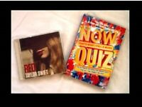 TAYLOR SWIFT 'RED' CD & NOW THAT'S WHAT I CALL MUSIC QUIZ DVD - FOR SALE