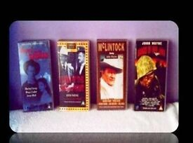 CLASSIC JOHN WAYNE FILMS - (4) VHS TAPES - FOR SALE