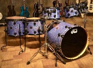 DW 6pce no snare finished in stain glass with black hardware