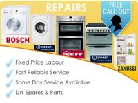WASHING MACHINE COOKER OVEN TUMBLE DRYER REPAIRS FREE CALL OUT 7 DAY SERVICE