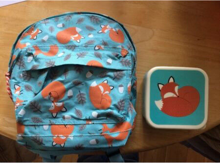 Child's Mini Back Pack and Snack Box