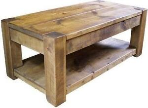 Chunky Wooden Coffee Table