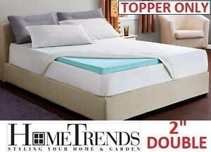 """NEW COOL GEL MEMORY FOAM TOPPER 2"""" DOUBLE - TOPPER  - HOMETRENDS 100273793"""