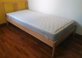 Nearly new Ikea single sprung mattress.