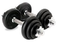 Dumbbells set 2x10kg only 15£