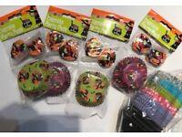 Halloween & Various Patterns & colours cupcake liners/cases - Baking - (BUNDLE)