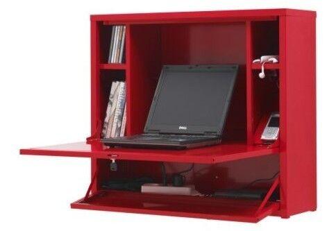 Red Ikea Ps Laptop Workstation Desk
