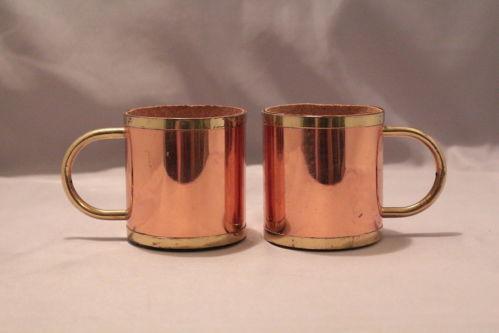 vintage copper cups ebay. Black Bedroom Furniture Sets. Home Design Ideas