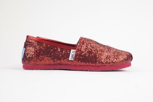 32ddf229e95 Red Glitter Toms  Clothing