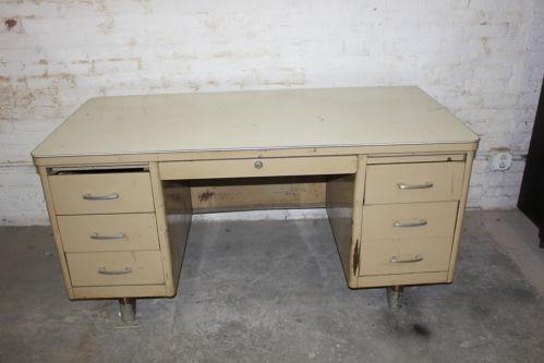 Vintage Steel Desk Ebay