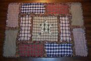 Rag Quilt Table Runner
