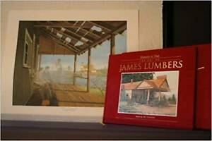 7 James Lumbers framed prints with autographed book
