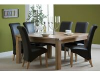 Oak Dining Table 150 x 150 cm. Very sturdy, beautifully made, as new, chairs not included