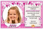 Girls Personalised Birthday Invitations