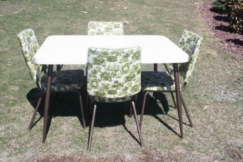 Formica table chairs ebay - Vintage formica kitchen table and chairs ...