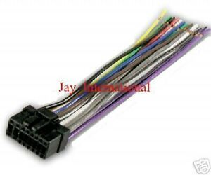 pioneer stereo wire wiring harness cable 16 pin deh 2000mp 17 p3600 p2600 ebay