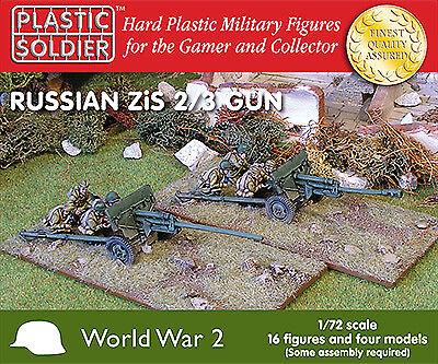 Plastic Solder Company 1/72 Zis anti tank/field gun # 20002 - Plastic Model Kit