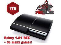 PS3 Slim Custom Firmware, 1TB, All top games onboard, REBUG 4.82