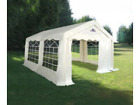 4m x 4m Gala Tent Marquee 100% PVC With Ground Bars - Used Once