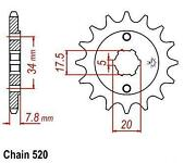 Honda CRF 230 Sprocket