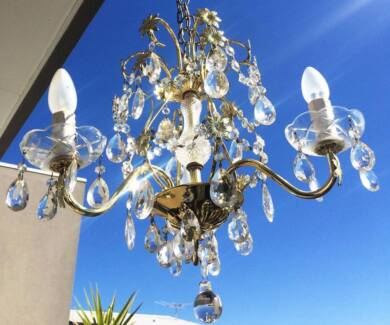 Vintage crystal chandelier   Ceiling Lights   Gumtree Australia ...