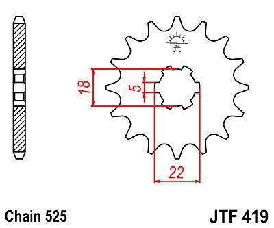 SUZUKI DS250 / T250 / GT250 K L M A B C 15 TOOTH FRONT