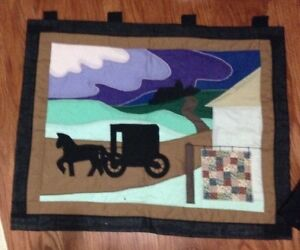 Beautiful quilted mennonite wall hanging for sale