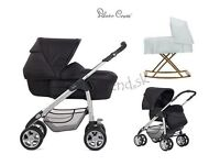 Silver cross sleepover pram and car seat