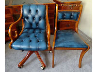 Fab Quality Home Office Set:(5 ITEMS):Desk+Filing Cabinet+Captains Chair+Bookcase+Chair GREAT COND