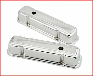 Chrome-Plated Steel Valve Covers Pontiac