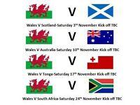 Autumn international rugby tickets