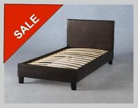 SALE FAUX LEATHER BED$129.00