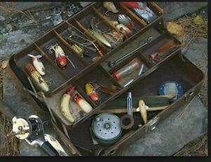 Buying Old Fishing Lures and full Tackle Boxes.