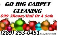 HIGH QUALITY CARPET & FURNITURE STEAM CLEANING $99