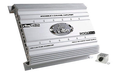 NEW LANZAR VIBE422 4 CHANNEL 2000 WATT CAR AUDIO AMPLIFIER 2000W 4CH AMP