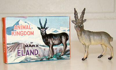 Vintage MARX Plastic 1960's ELAND Toy Figure ANIMAL KINGDOM / IN BOX!